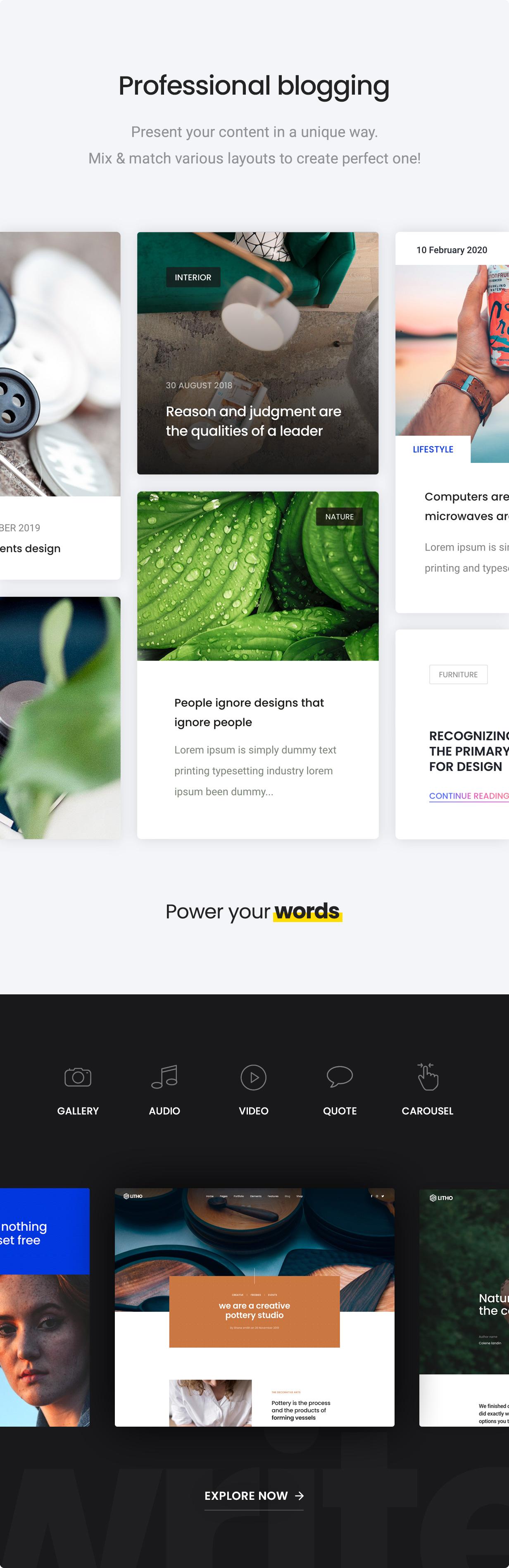 Litho - The Multipurpose HTML5 Template